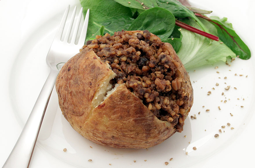Haggis with Jacket Potato